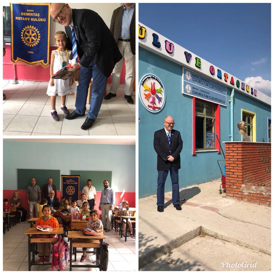 Demirtaş Rotary Kulübü Kırtasiye Yardımı…