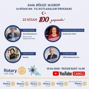 23 Nisan 100. Yıl YouTube Canlı Yayını İlgiyle İzlendi