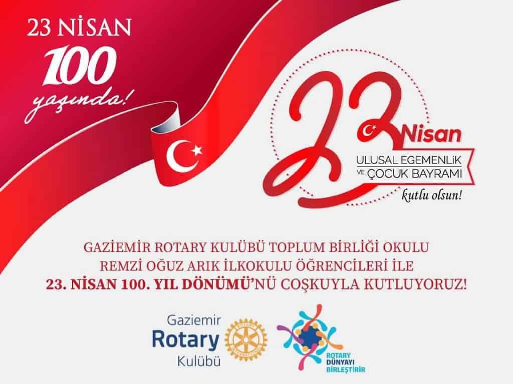Gaziemir RK 23 Nisan 100 Yaşında Kutlama Projesini Çevrimçi Gerçekleştirdi