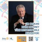 Rotary 2440. Bölge, Uluslararası Rotary Başkanı Mark Maloney'i ile Zoom'da Konuk Etti