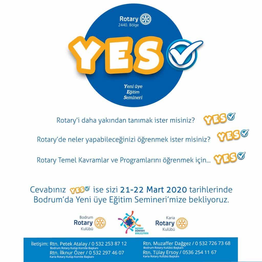 Rotary 2440. Bölge Yeni Üye eğitim Semineri (YES) Online Gerçekleşti