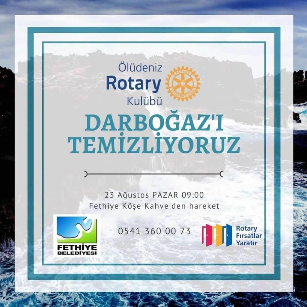 Ölüdeniz Rotary Kulübü Deniz ve Kıyı Temizliği Düzenledi