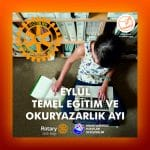 Eylül Ayı Rotary'de Temel Eğitim ve Okuryazarlık Ayı